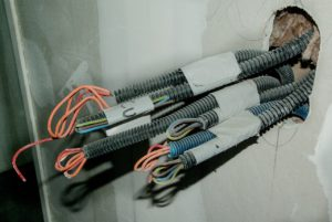 electrical wires from the wall